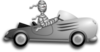 Gray Race Car Clip Art