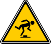 Warning - Tripping Hazard Clip Art