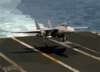 An F-14 Tomcat Assigned To The Checkmates Of Fighter Squadron Two One One (vf-211) Prepares To Land On The Flight Deck Aboard Uss Enterprise (cvn 65). Clip Art