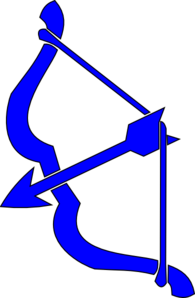 Blue Bow N Arrow Clip Art