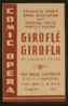 Cuyahoga County Opera Association And Federal Music Project Present  Giroflé Girofla  By Charles Le Coq Comic Opera. Clip Art