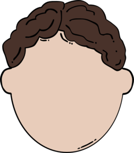 Back Of Brown Hair Man Clip Art