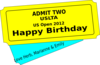 Birthday Ticket Clip Art