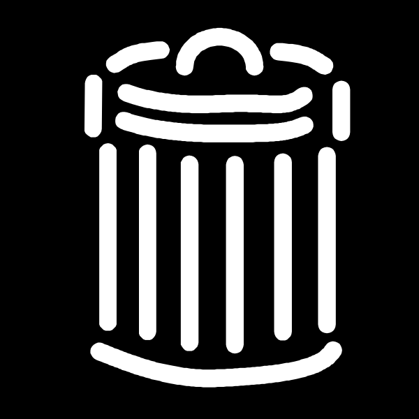 Black And White Trash Can Clip Art at Clker.com - vector ...