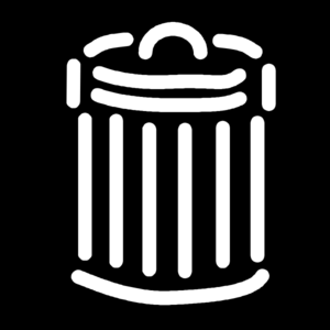 Black And White Trash Can Clip Art
