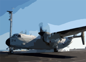C-2 Grayhound Launches From Uss Carl Vinson (cvn 70). Clip Art
