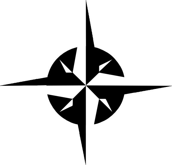 White Compass Rose Clip Art at Clker.com - vector clip art online ...