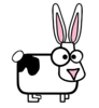 Cartoon Rabbit With Black Spot Clip Art