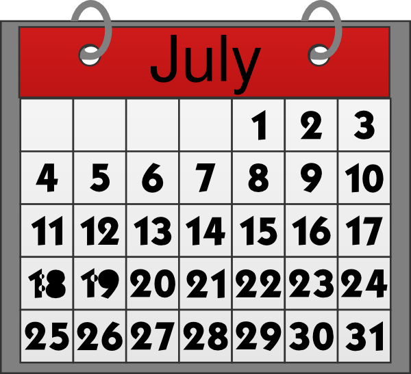 Clip Art Calendar July : July calendar clip art at clker vector