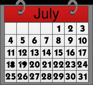 Calendar july. Clip art at clker