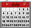 July Calendar Clip Art