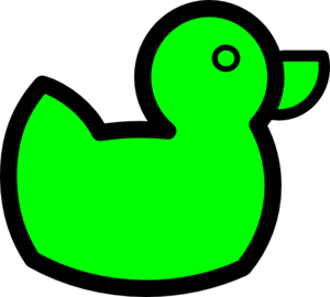 Green Duck Clip Art