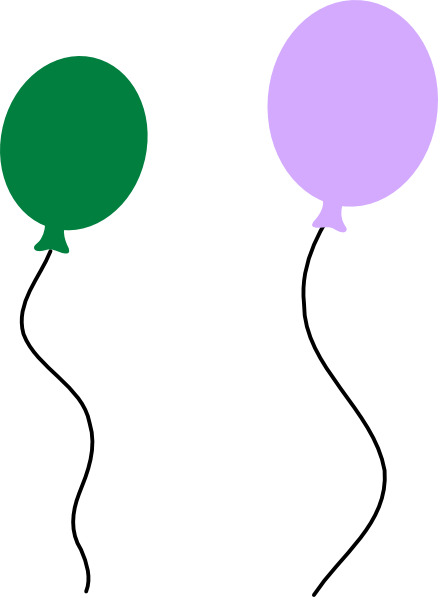 Green Purple Balloon Pair Clip Art at Clker.com - vector ...
