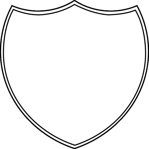 Double Shield Outline Clip Art At Clker Com Vector Clip