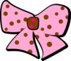 Brown Pink Bow Clip Art