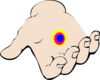 Open Hand With Chakra Clip Art