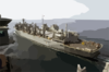 Uss Nimitz (cvn 68) Approaches The Fast Combat Support Ship Uss Bridge (aoe 10). Clip Art