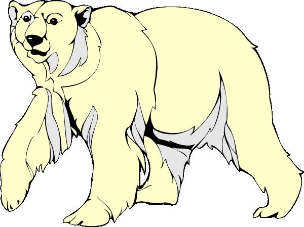 Polar Bear Walking Clip Art at Clker.com - vector clip art ... Walking Bear Drawing