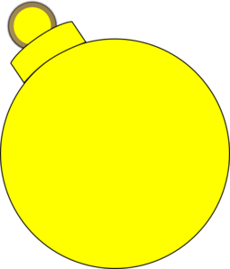 Yellow Ornament Clip Art