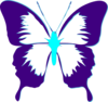 Butterfly Purple And Teal Clip Art