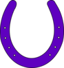 Horse Shoe Purple2 Clip Art