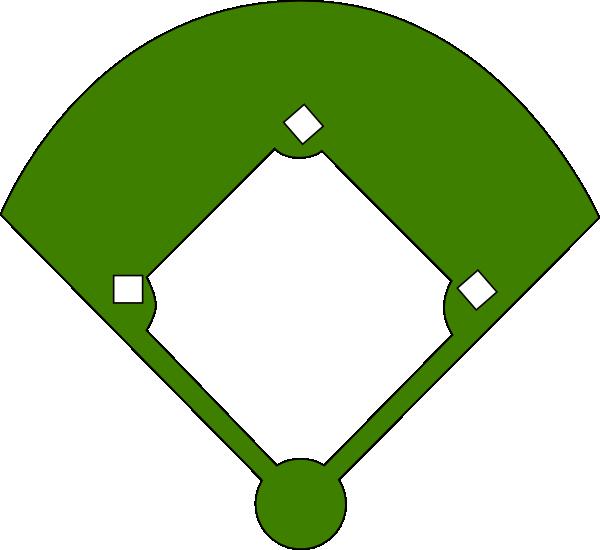 Baseball Field Olive Green Clip Art at Clker.com - vector clip art ...