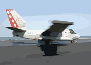 S-3b Viking Moves Down The Flight Deck During Catapult Launch. Clip Art