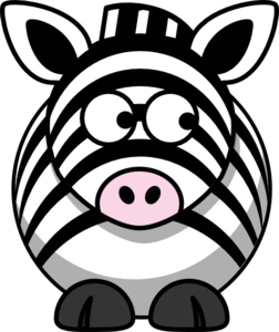 Zebra Looking Right Clip Art