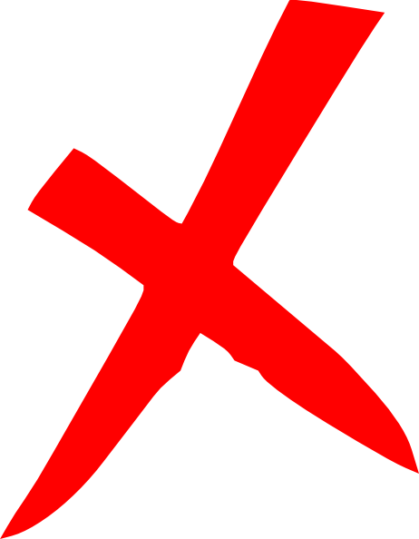 X Icon Transparent Red X Icon Clip Art at...