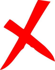 Red X Icon Clip Art