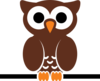 Owl On A Branch Clip Art