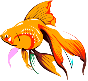 Golden Fishie Clip Art