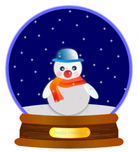 Snowman In Snow Globe Clip Art