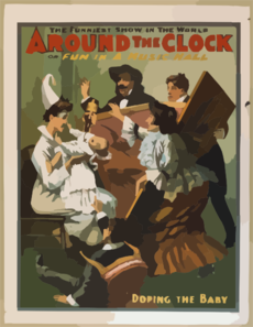 Around The Clock, Or Fun In A Music Hall The Funniest Show In The World. Clip Art