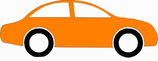 Orange Sedan Clip Art At Clker Com Vector Clip Art