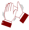 Clapping Hands Color Clip Art