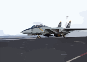 An F-14b Tomcat Assigned To The  Jolly Rogers  Of Fighter Squadron One Zero Three (vf-103) Launches From The Number One Catapult During The Flight Operations Aboard John F. Kennedy (cv 67). Clip Art
