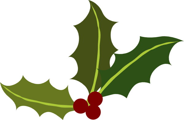 holly leaves with berries clip art at clker com vector clip art rh clker com holly leaves clipart free holly leaves clipart black and white