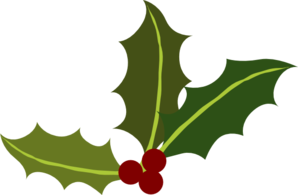 Holly Leaves With Berries Clip Art
