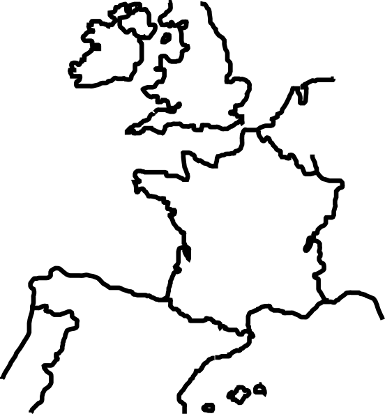 Outline West Europe Clip Art At Clker Com