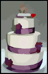 Cake Art Md : Wedding Cake Clip Art at Clker.com - vector clip art ...