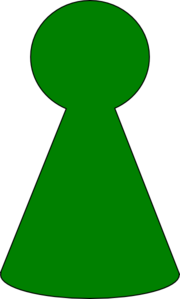 Ludo Piece - Green Clip Art