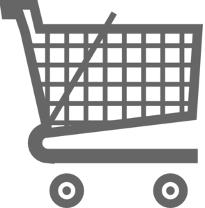 Grey Shopping Cart Clip Art