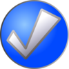 Blue Check Button Clip Art