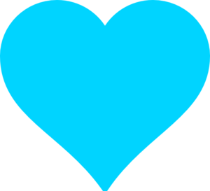 Turquoise Heart Clip Art