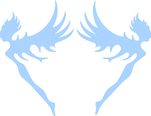 Blue Fairies Clip Art