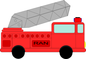 Firetruck Named Ran Clip Art