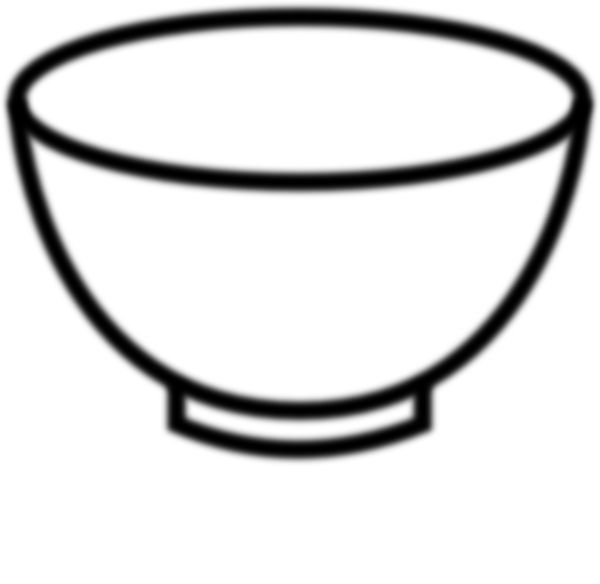 Empty Bowl Black And White clip art - vector clip art online ...