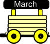 Loco Train Carriage Yellow Clip Art