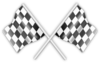 Checkered Racing Flags Clip Art